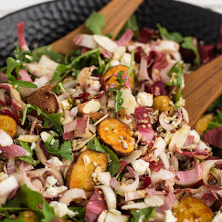 Roasted Potato, Endive, and Arugula Salad