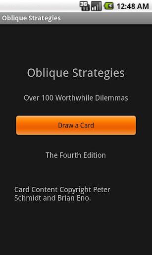 Oblique Strategies