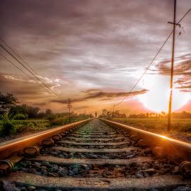 Rel by Randi Pratama M - Transportation Railway Tracks ( railroad,  )