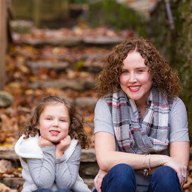 Mother & Daughter by R Jay Prusik - People Portraits of Women ( mother, fall, daughter,  )