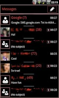 Screenshot of RBW GO SMS Pro Theme (free)