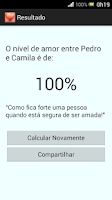 Screenshot of Calculadora do Amor - Simples