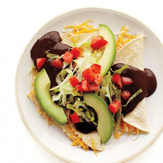 Cheesy Tortillas with Black-Bean Puree