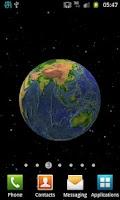 Screenshot of Planet Earth 3D Live Wallpaper