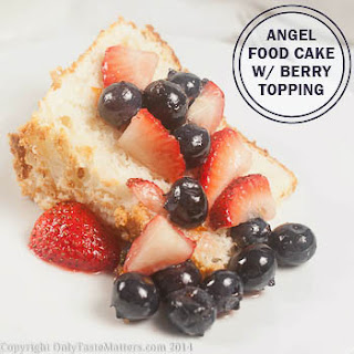 Angel Food Cake with Berry Topping