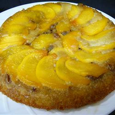 Peach Amaretto Upside-Down Cake