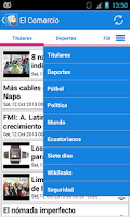 Screenshot of Ecuador Noticias