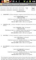 Screenshot of Emergency Response Guide