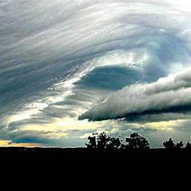 Making Way by Joani Jiannine - Landscapes Cloud Formations ( clouds, funnel, sunset, storm, skyscape )
