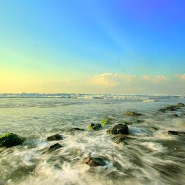 Manyar Beach by Achem Kw - Landscapes Beaches ( slowspeed, bali, sea, beach, landscape )