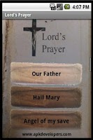 Screenshot of Christian catholic prayers