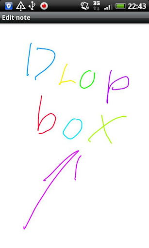 Paint with Dropbox 手書きメモ