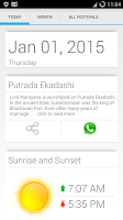 Screenshot of Hindu Calendar 2015