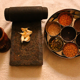 Traditional Stone and Wood Grinder!! by Priya Dharsini - Food & Drink Ingredients