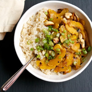 Spicy Stir-Fried Delicata Squash with Cashews
