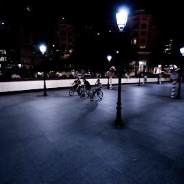 by Luke Philemon - City,  Street & Park  Street Scenes ( bmx, night,  )