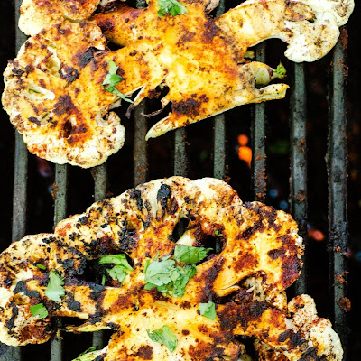 Grilled Chipotle Lime Cauliflower Steaks