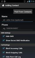 Screenshot of SMS and Call Blocker Plugin