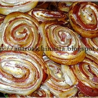 Mortadella and Cream Cheese Spirals