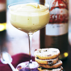 Moscato Zabaglione with Cornmeal Cookies