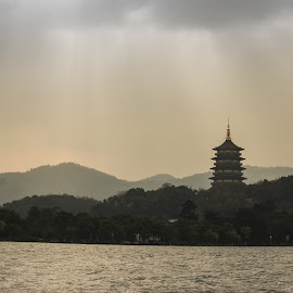 Sky Full of Hope  by Chen Lun - Landscapes Travel ( tower, nature, scenery, sunlight, landscape )