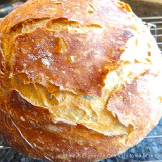 A Quick No Knead Crusty Rye Bread