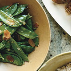 Snow Peas with Toasted Almonds