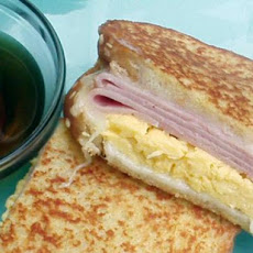 French Toast Breakfast Sandwich With Canadian Maple Syrup