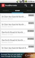 Screenshot of bus@toronto
