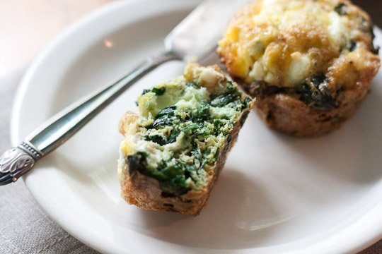Kale and Goat Cheese Fritatta Cups