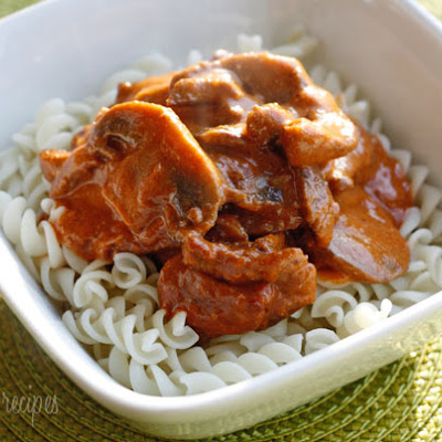 Mom's Lightened Beef Stroganoff