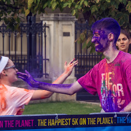 Blue Boy by Tudor Migia - News & Events World Events ( bucharest, the colorrun, blue, blue face, play )