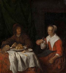 RIJKS: Gabriël Metsu: painting 1660