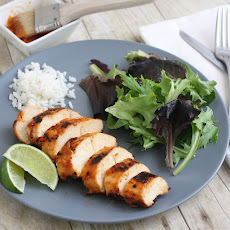 Grilled Chicken with Peach BBQ Sauce