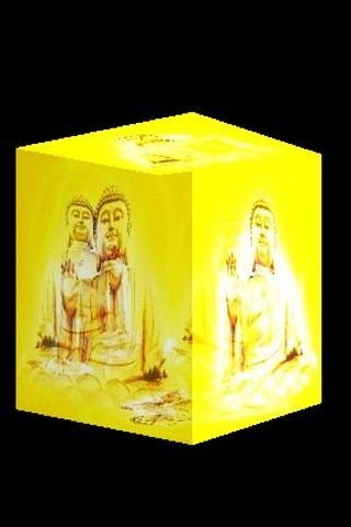 3D golden Buddha