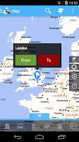 Screenshot of ViaMichelin Route planner,maps