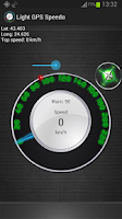 Screenshot of Light GPS Speedometer: kph/mph