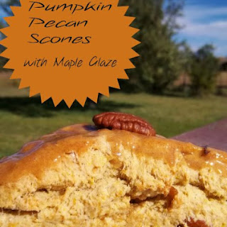 Pumpkin Pecan Scones with Maple Glaze