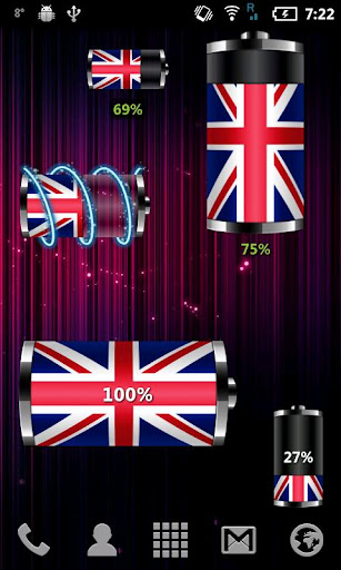 【免費個人化App】UK: Flag Battery Widget-APP點子
