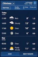 Screenshot of Inforama Meteo Moldova