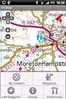 Screenshot of OS Map