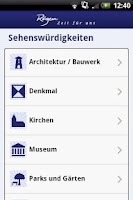 Screenshot of Rügen-App