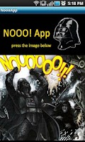 Screenshot of Darth Vader Nooo! Button