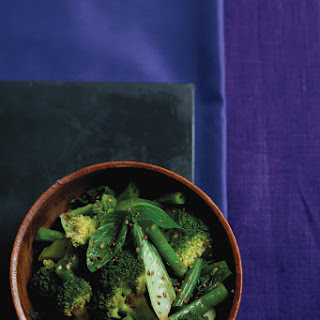 Emerald Veggies with Honey-Sesame Dressing