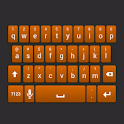 Orange Galaxy Keyboard Skin icon