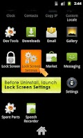 Screenshot of Lock Screen App