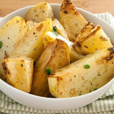 Greek Garlic-Lemon Potatoes