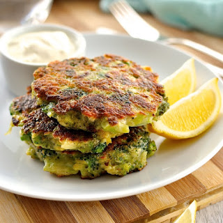 Parmesan Garlic Broccoli Fritters