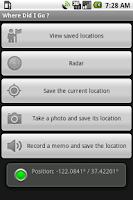 Screenshot of Where Did I Go