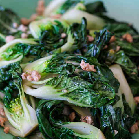 Bok Choy with Ground Chicken Stir Fry